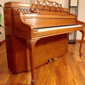 1965 Steinway Louis XV Console Piano in Walnut