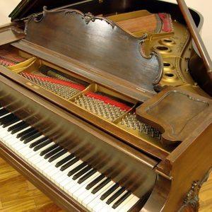 Walnut Steinway Louis XV model L grand piano