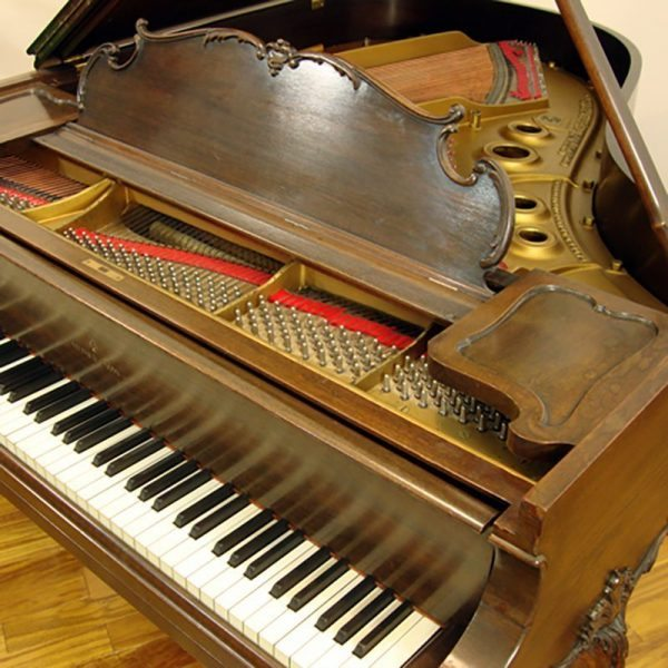 Walnut Steinway Louis XV model L grand piano