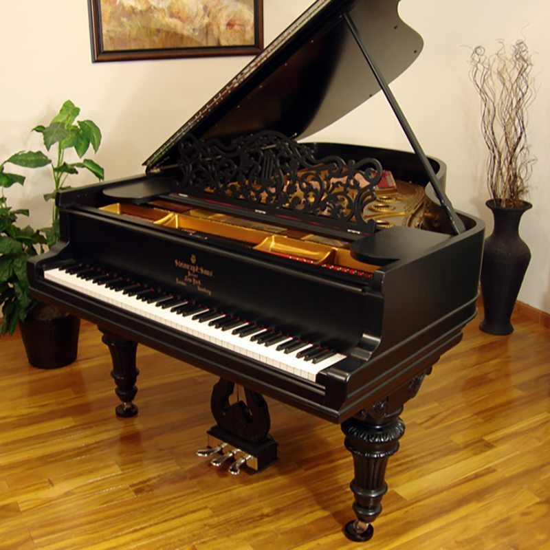 1906 Steinway A Grand Piano Ebony Victorian Style Restored