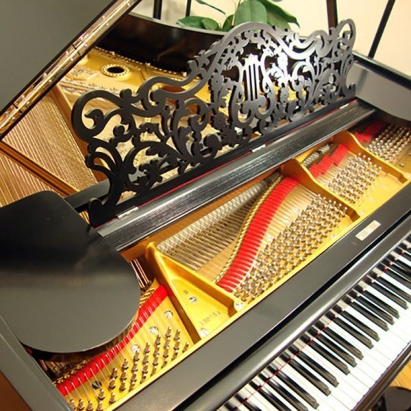 1908 Steinway B Grand Piano Ebony Victorian Style Restored