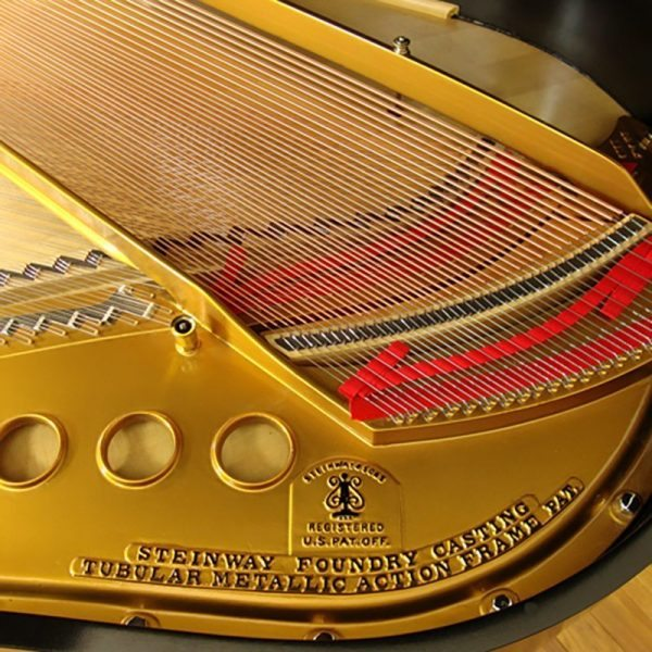 1924 Steinway M Grand Piano Ebony Traditional Style Restored