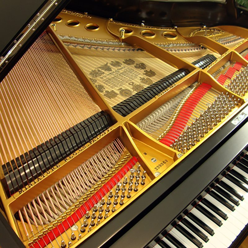1925 Steinway M Grand Piano Ebony Traditional Style Restored