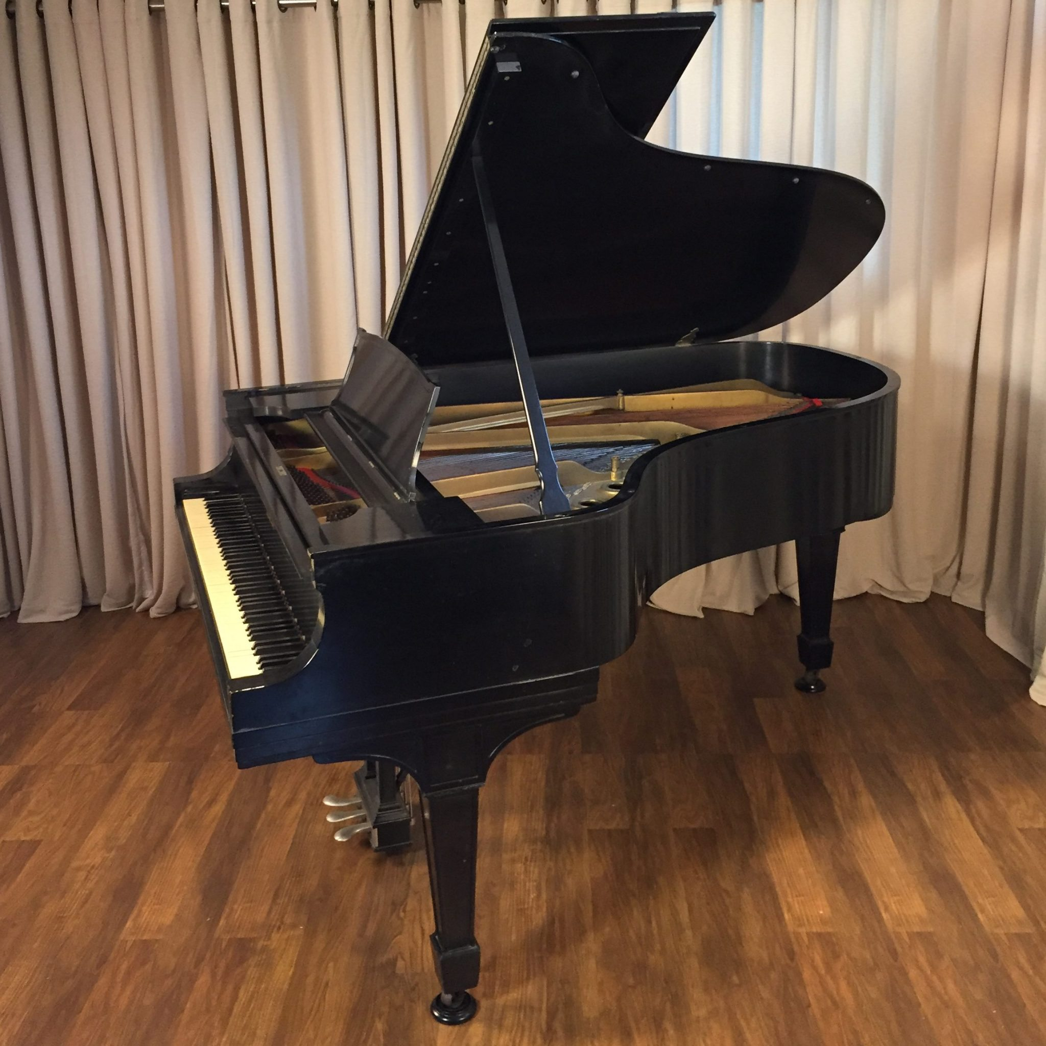 1916 Steinway model A3 Grand Piano in Ebony Traditional Style