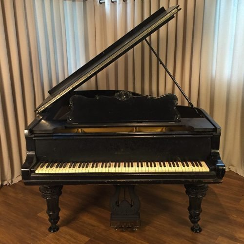 steinway model a grand piano victorian style ebony original condition