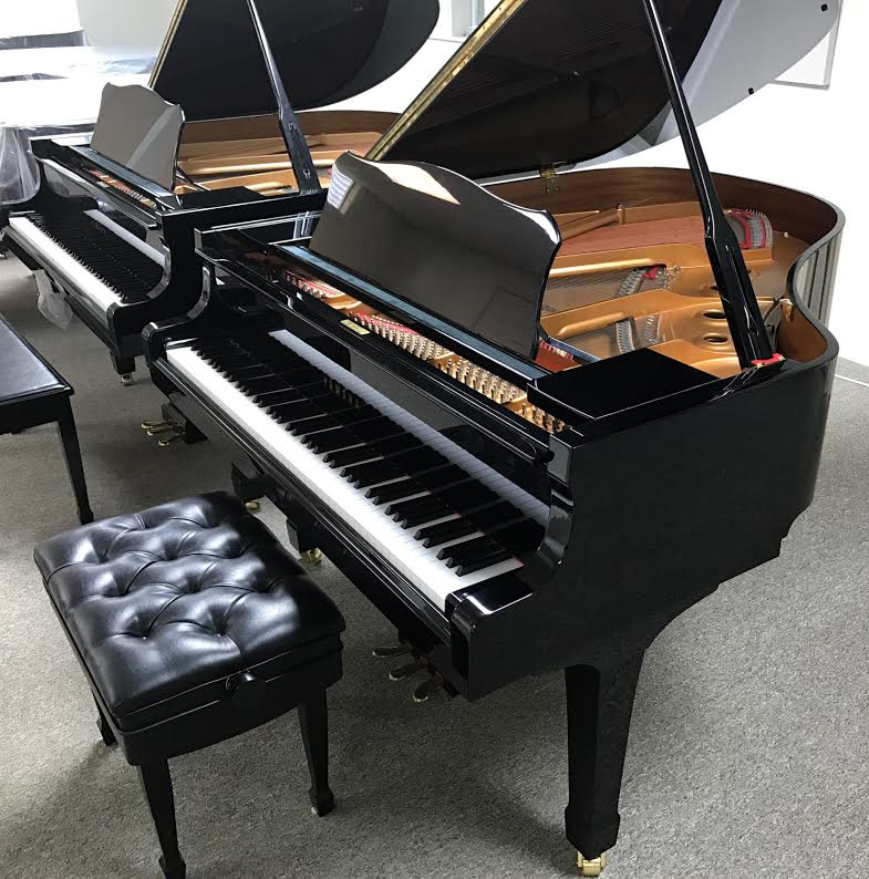 2001 Yamaha C2 Grand Piano High Gloss Ebony Piano