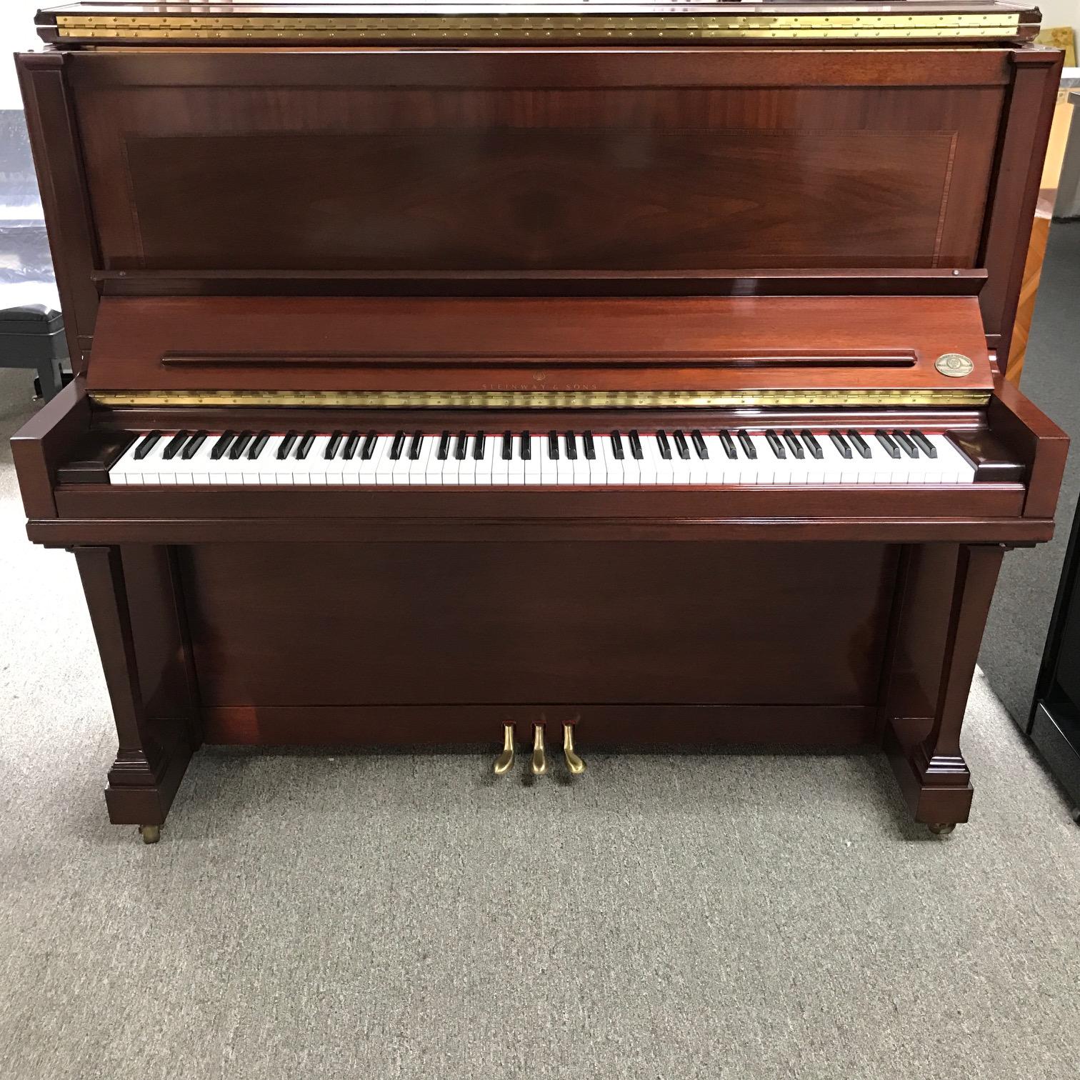 2003 Crown Jewel Steinway Quot K 52 Quot Mahogany Upright Piano